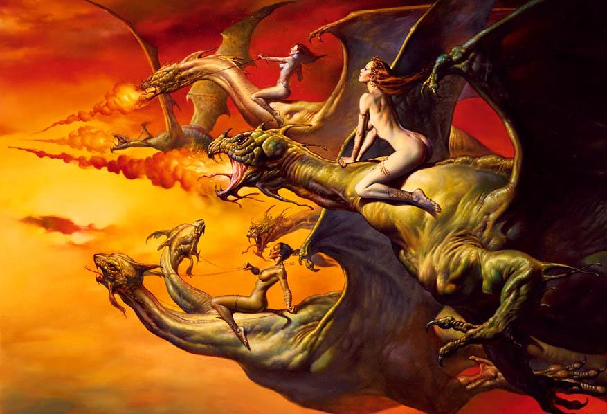 Dragon Riders - Boris Vallejo
