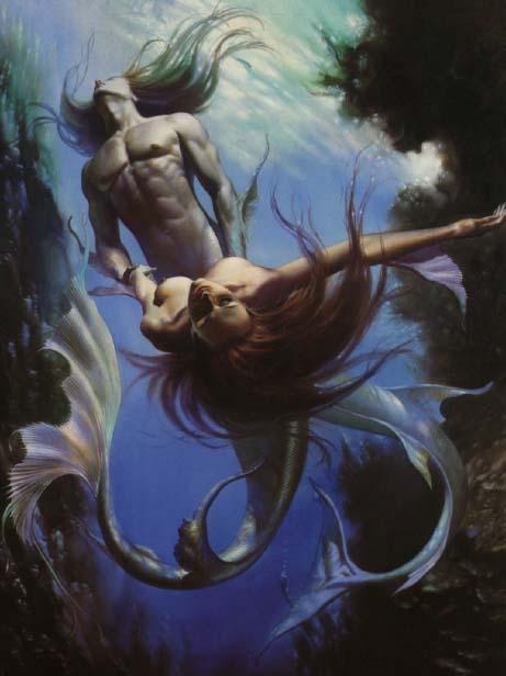 Boris Vallejo The Mermaid and Triton