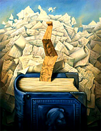 Bookmark by Vladimir Kush